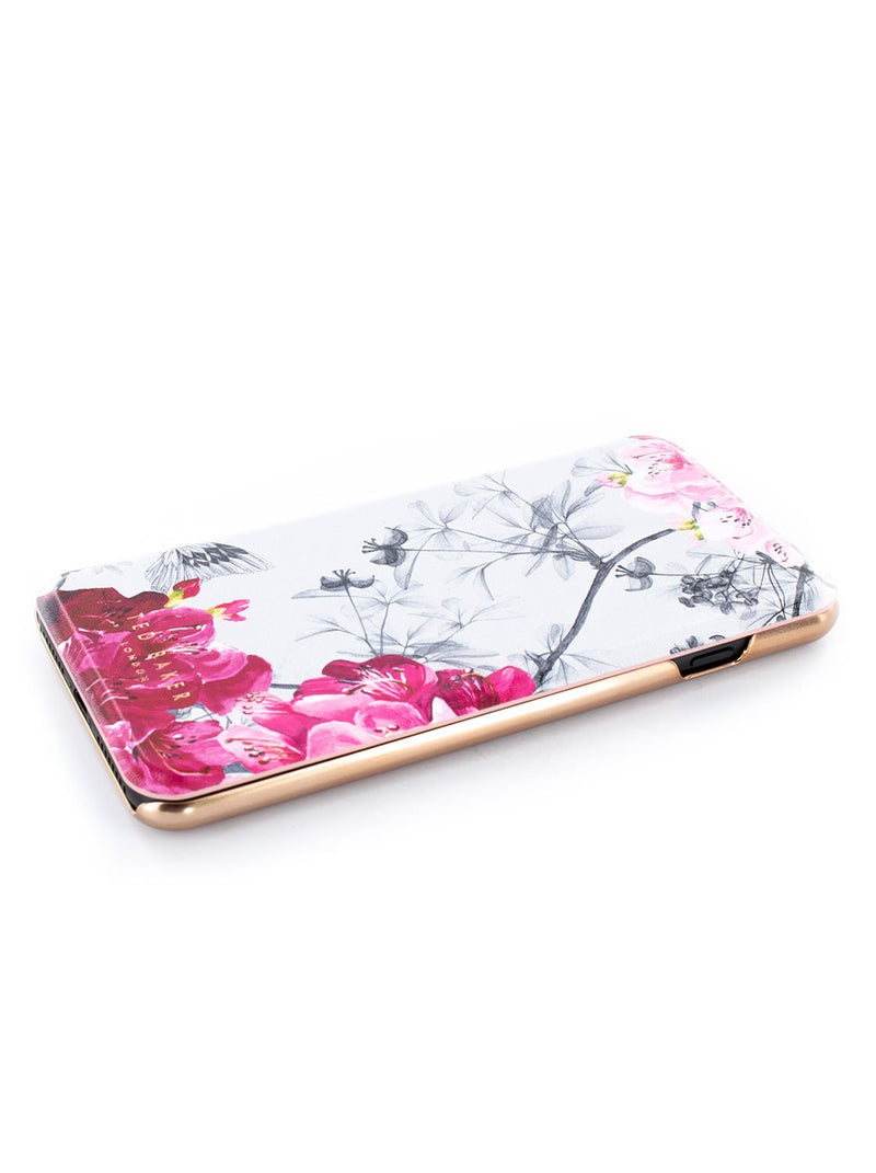 Face up image of the Ted Baker Apple iPhone 8 Plus / 7 Plus phone case in Babylon Nickel White