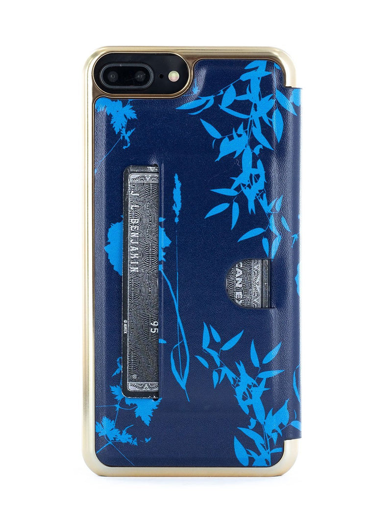 Back card slot image of the Ted Baker Apple iPhone 8 Plus / 7 Plus phone case in Blue