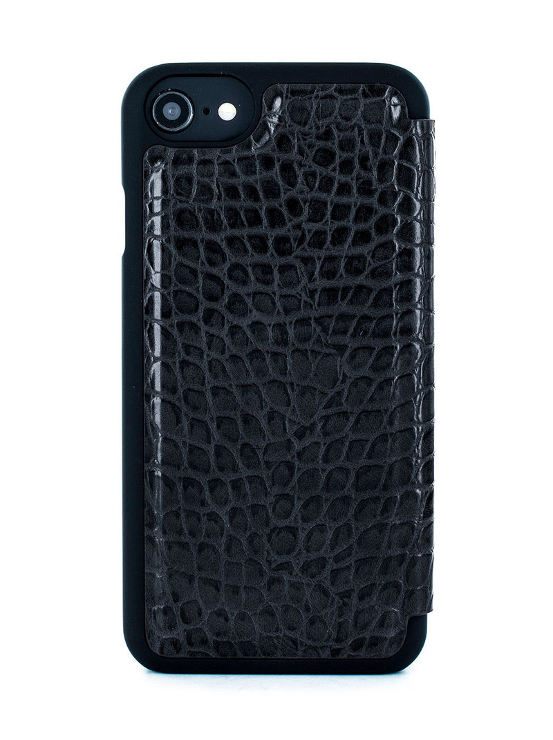 Back image of the Karen Millen Apple iPhone 8 / 7 / 6S phone case in Black