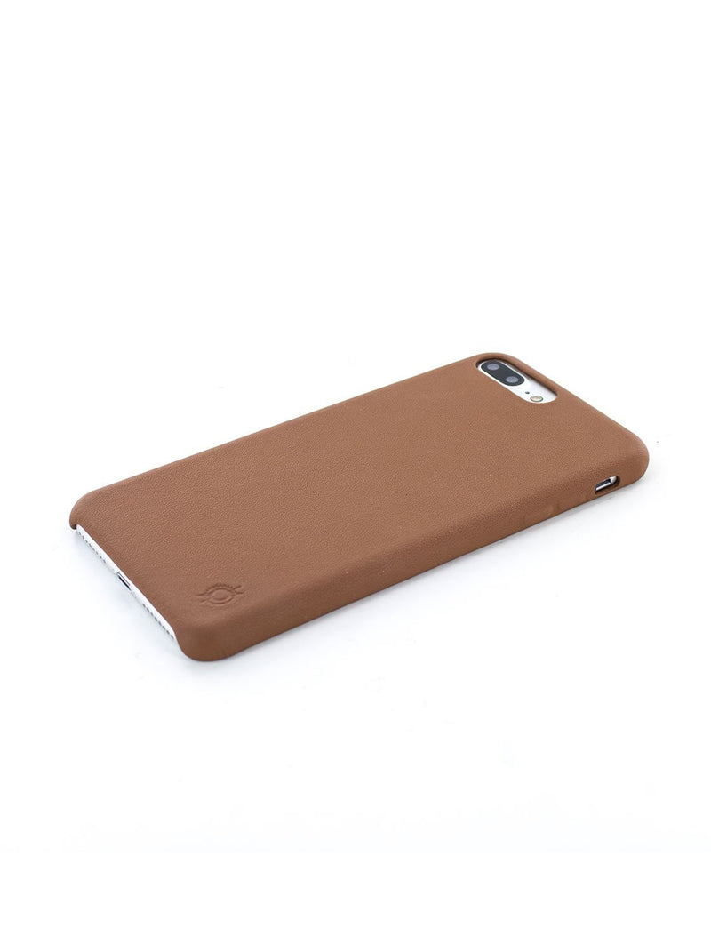Face down image of the Greenwich Apple iPhone 8 Plus / 7 Plus phone case in Saddle Brown