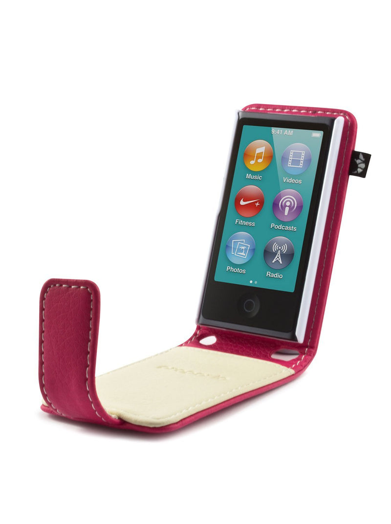 Side image of the Proporta Apple iPod Nano 7G phone case in Pink