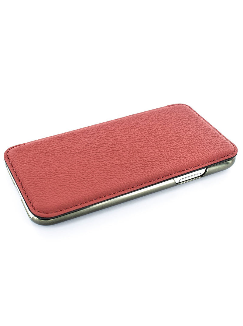 Face up image of the Greenwich Apple iPhone XS Max phone case in Scarlet Red