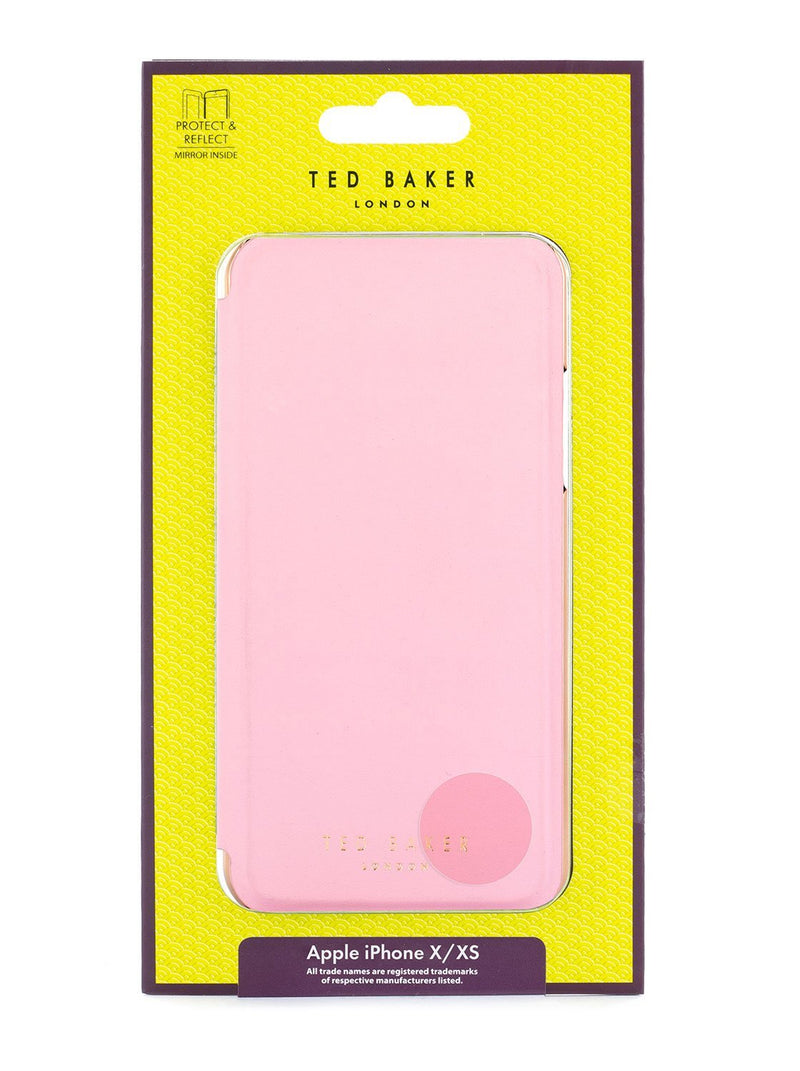 Packaging image of the Ted Baker Apple iPhone XS / X phone case in Soft Rose Pink