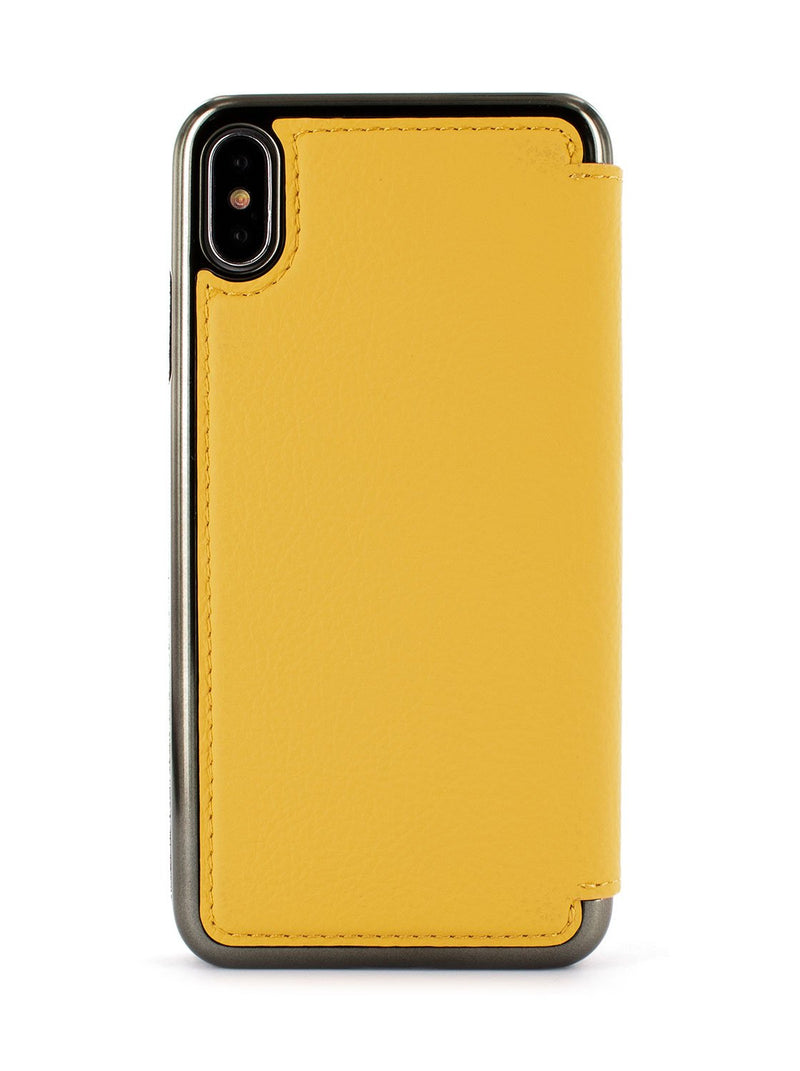 Back image of the Greenwich Apple iPhone XS Max phone case in Canary Yellow