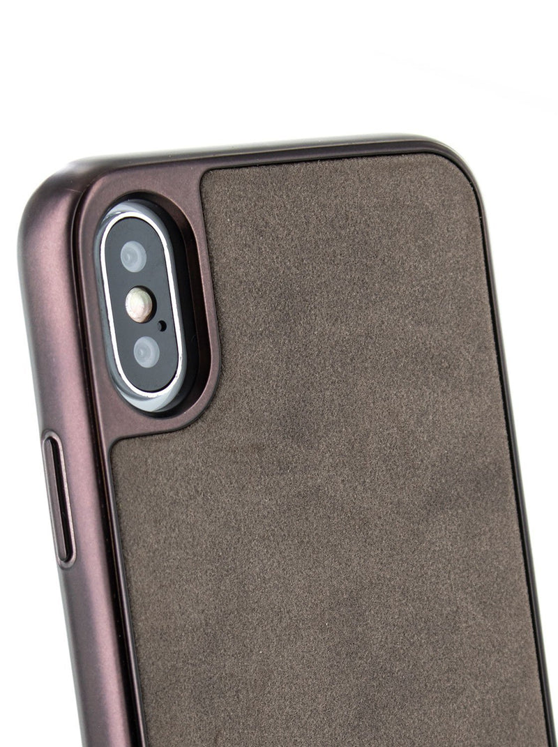 Detail image of the Ted Baker Apple iPhone XS Max phone case in Grey