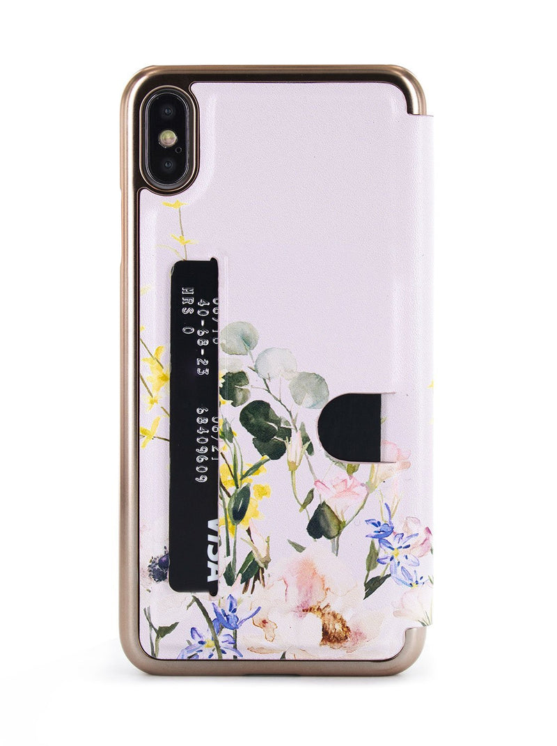 Card slot back image of the Ted Baker Apple iPhone XS Max phone case in Pink