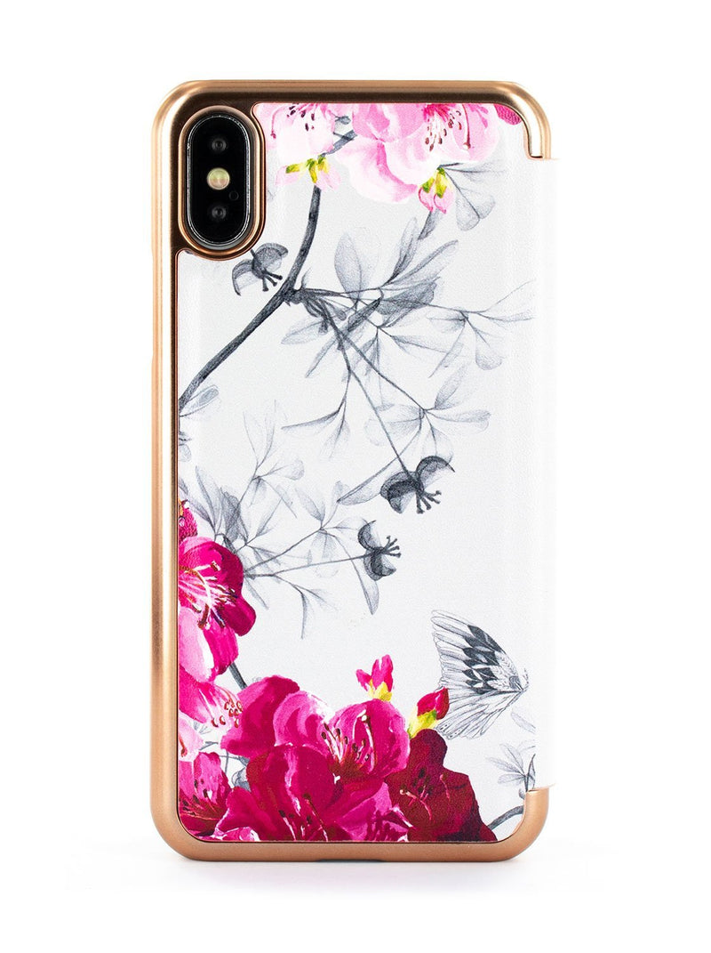 Back image of the Ted Baker Apple iPhone XS / X phone case in Babylon Nickel