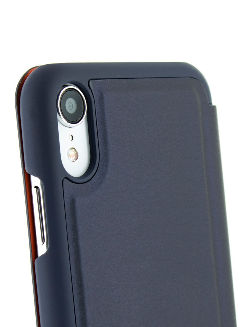 Detail image of the Ted Baker Apple iPhone XR phone case in Navy Blue