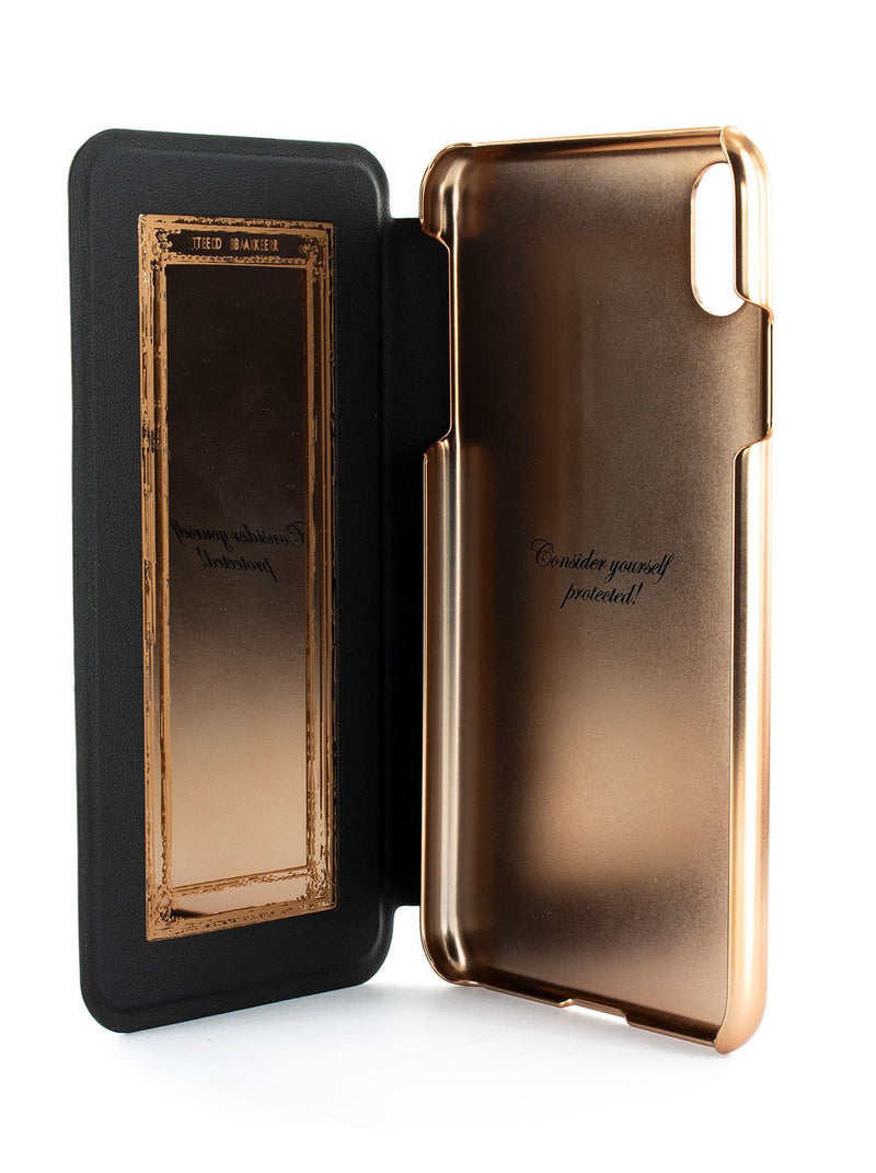 Inside image of the Ted Baker Apple iPhone XS Max phone case in Black