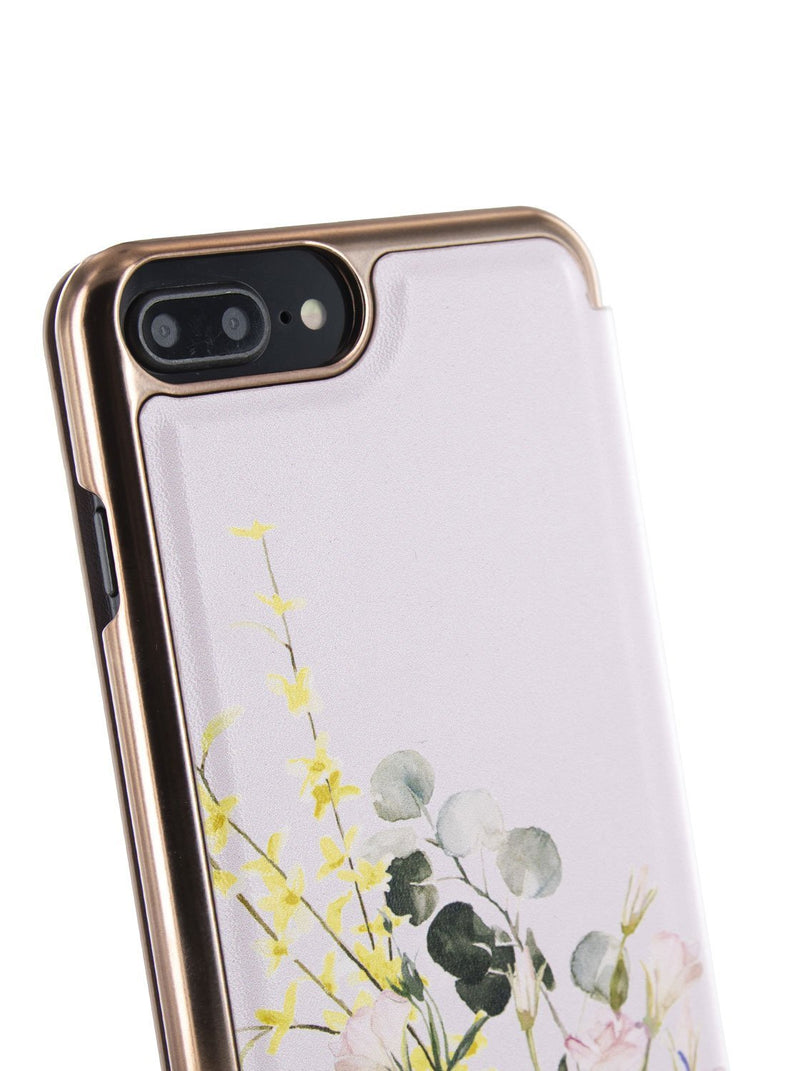 Detail image of the Ted Baker Apple iPhone 8 Plus / 7 Plus phone case in Pink
