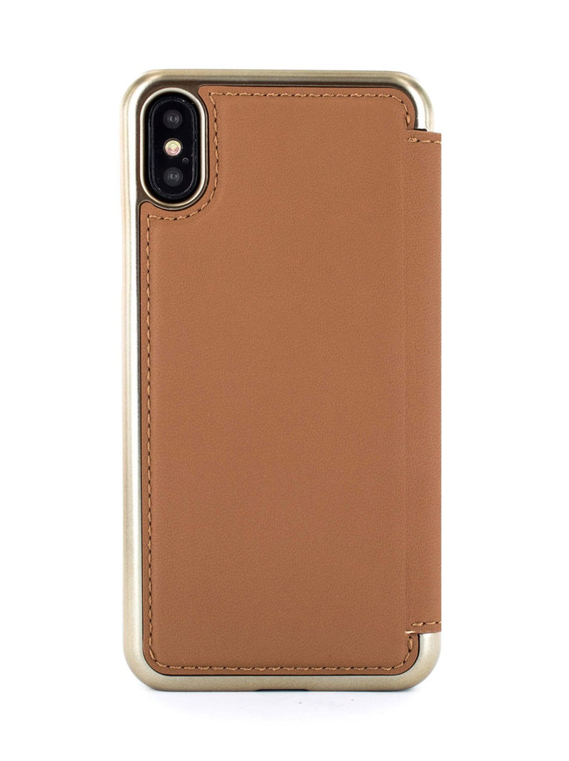 Back image of the Greenwich Apple iPhone XS / X phone case in Saddle Brown