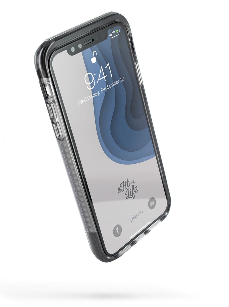 Front image of the Proporta Apple iPhone XR phone case in Black