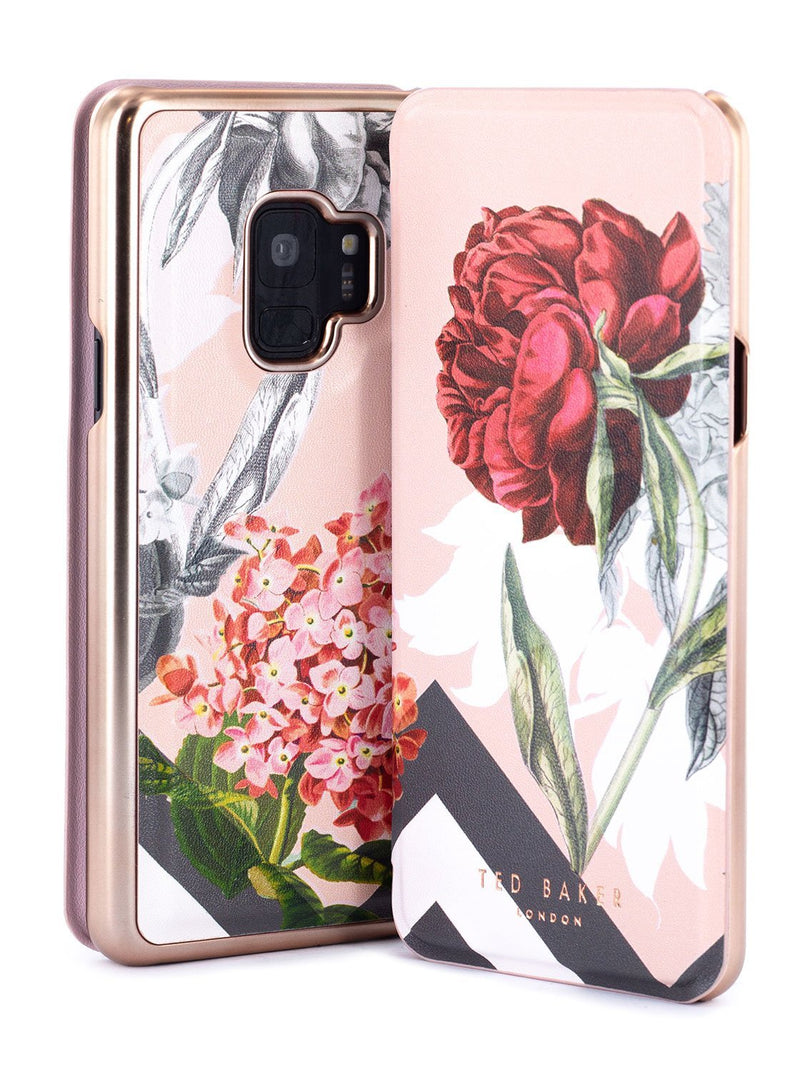 Front and back image of the Ted Baker Samsung Galaxy S9 phone case in Nude