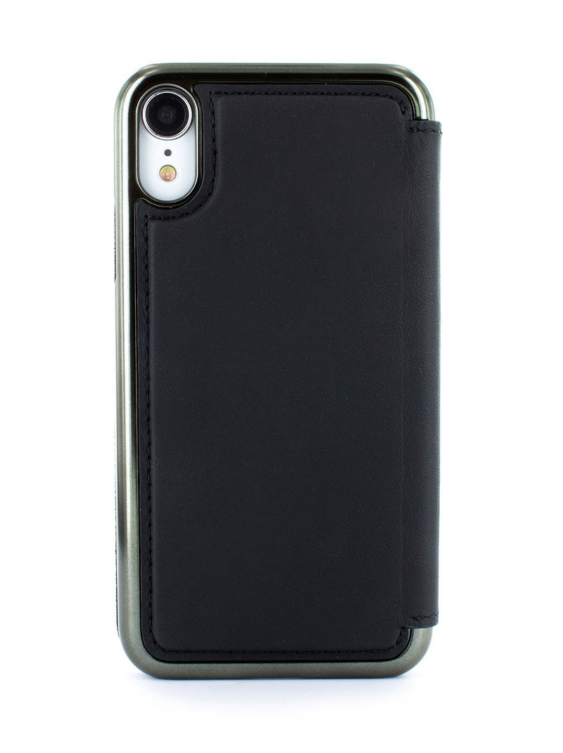 Back image of the Greenwich Apple iPhone XR phone case in Beluga Black