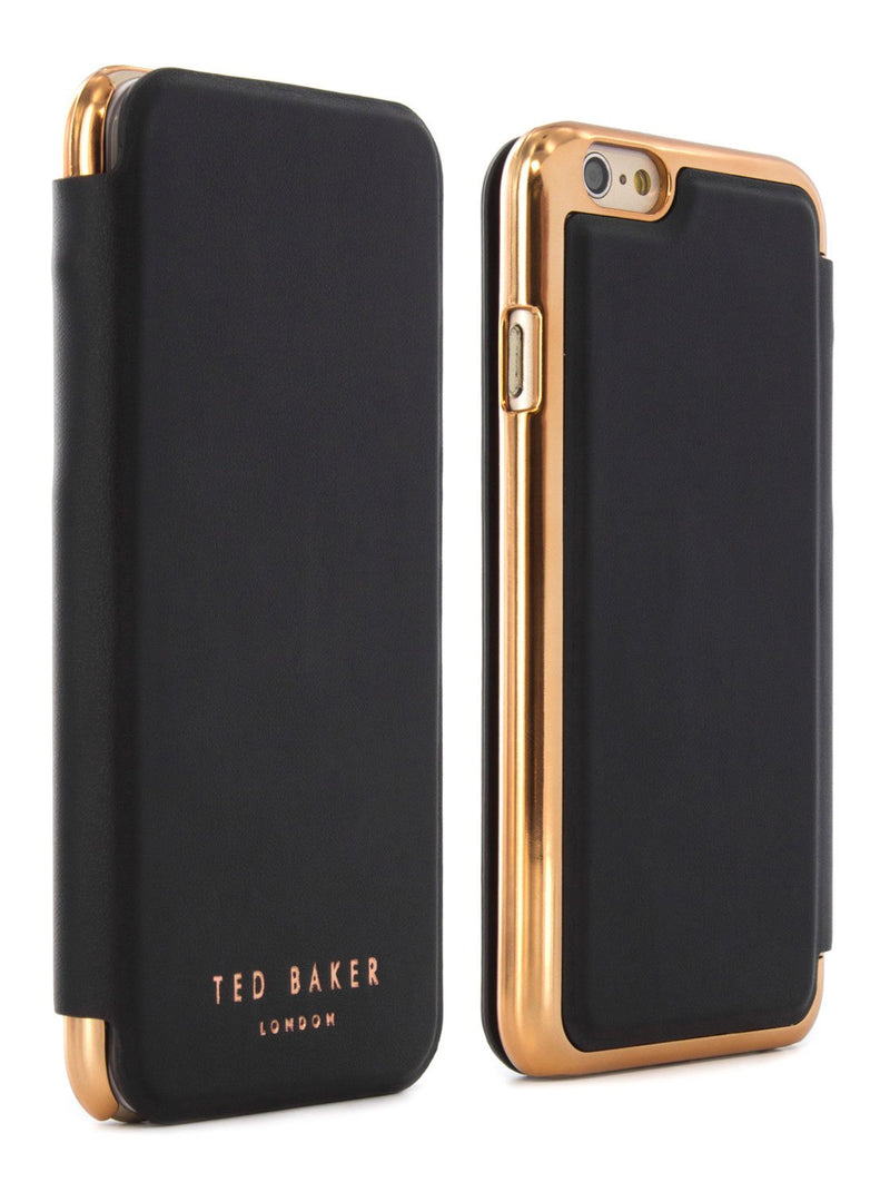 Front and back image of the Ted Baker Apple iPhone 6S / 6 phone case in Black