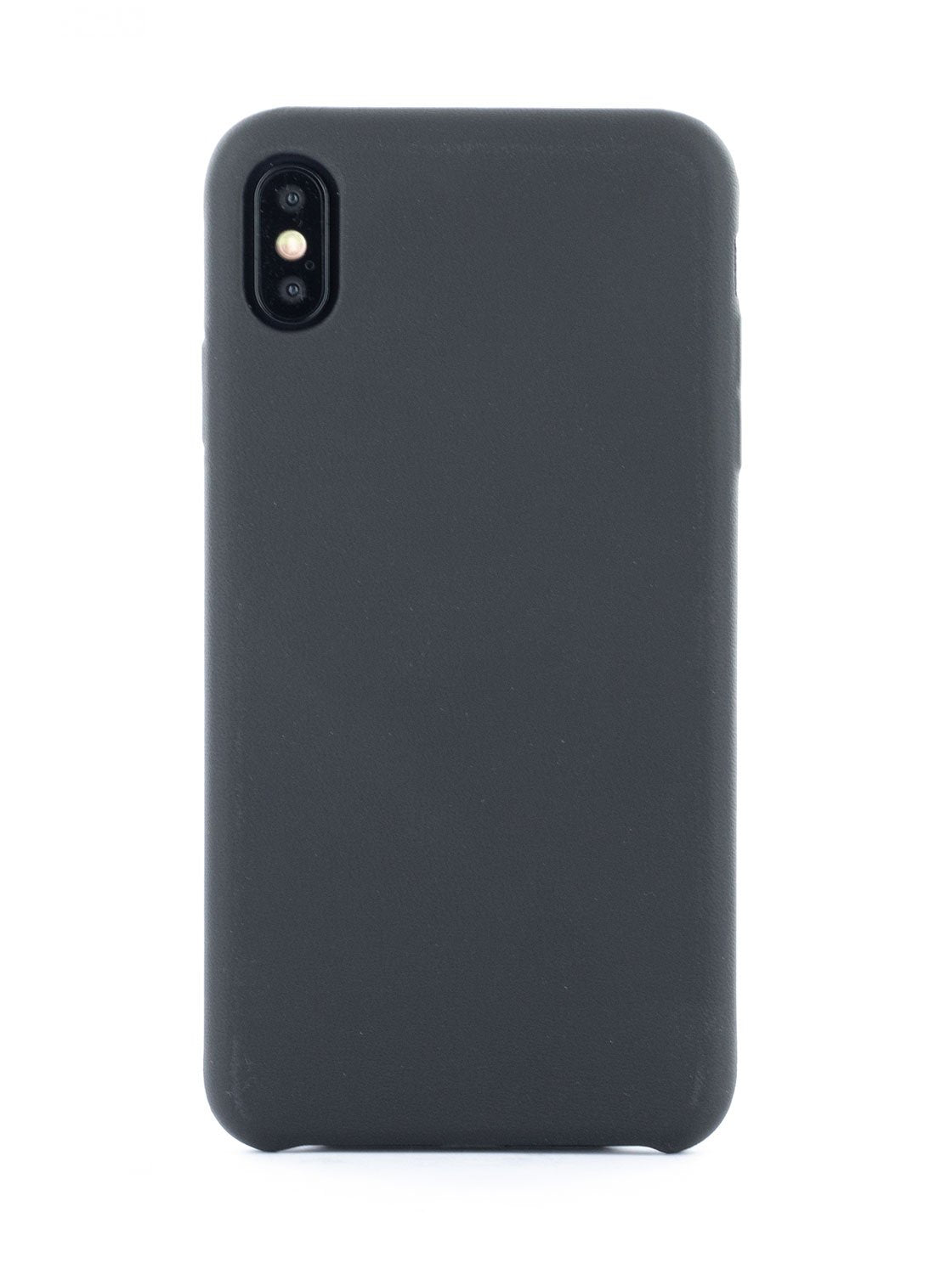 AEON Luxury Leather Wrapped Back Shell for iPhone XS Max - Beluga (Black)