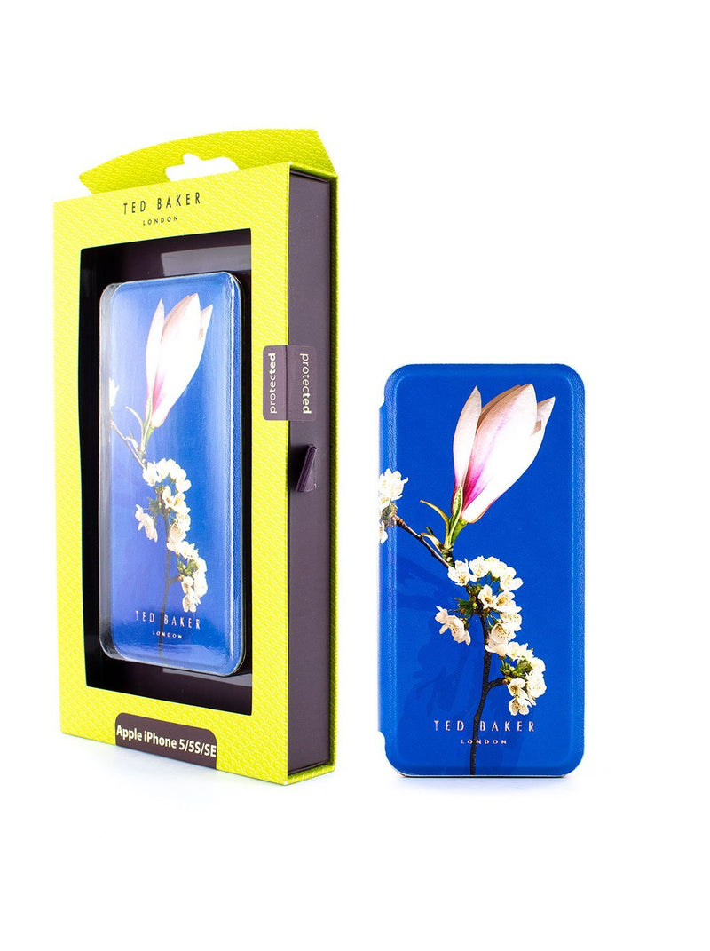 Packaging image of the Ted Baker Apple iPhone SE / 5 phone case in Blue