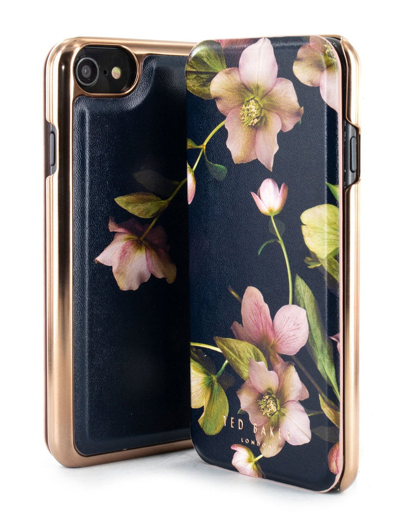 Inside image of the Ted Baker Apple iPhone 8 / 7 / 6S phone case in Arboretum Black