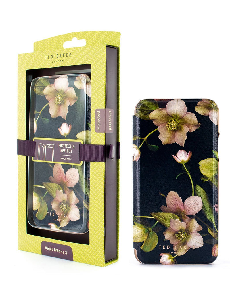 Packaging image of the Ted Baker Apple iPhone XS / X phone case in Black