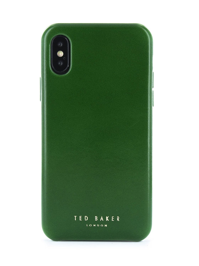 Hero image of the Ted Baker Apple iPhone XS / X phone case in Dark Green