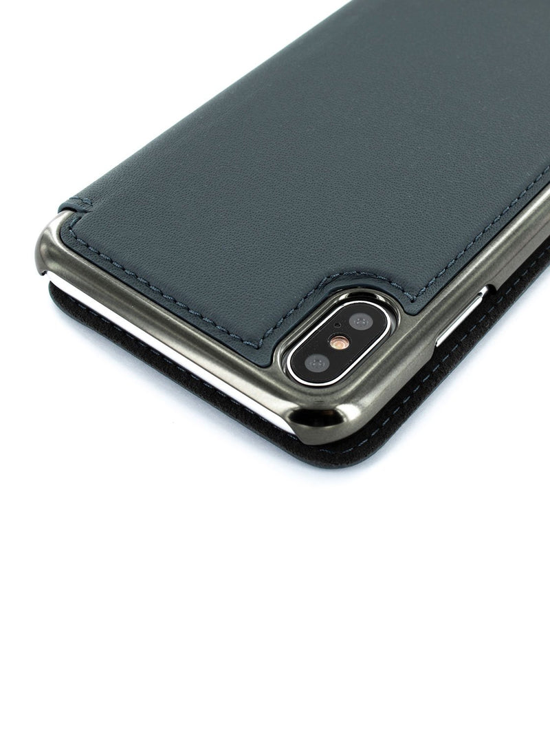 Detail image of the Greenwich Apple iPhone XS Max phone case in Seal Grey