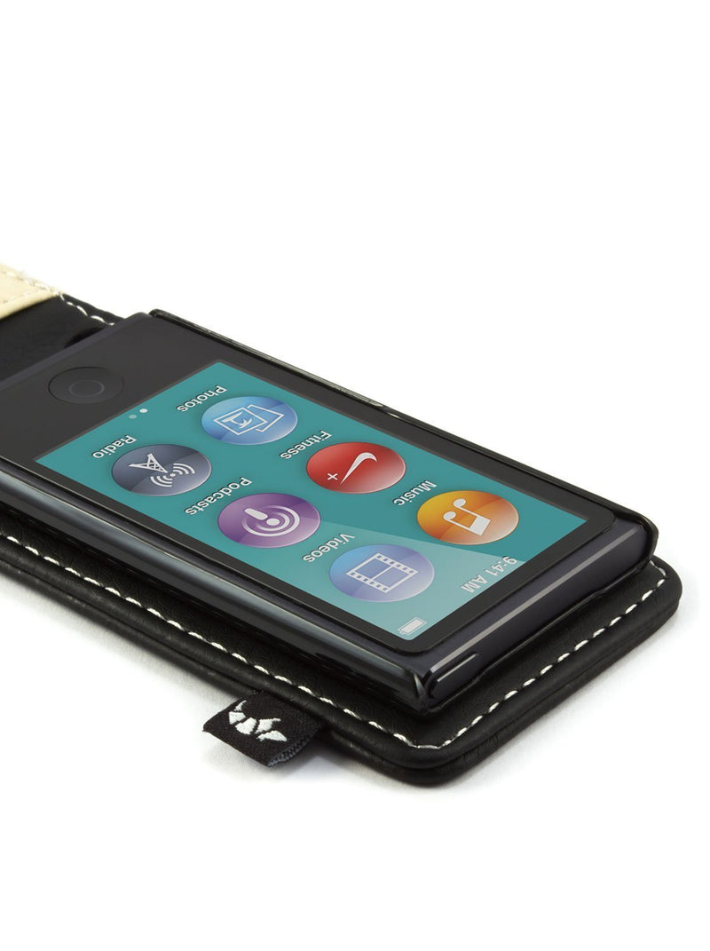 Diagonal image of the Proporta Apple iPod Nano 7G phone case in Black