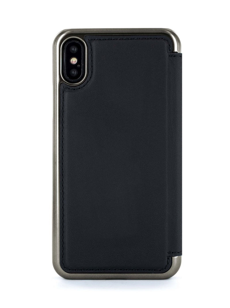 Back image of the Greenwich Apple iPhone XS / X phone case in Beluga Black
