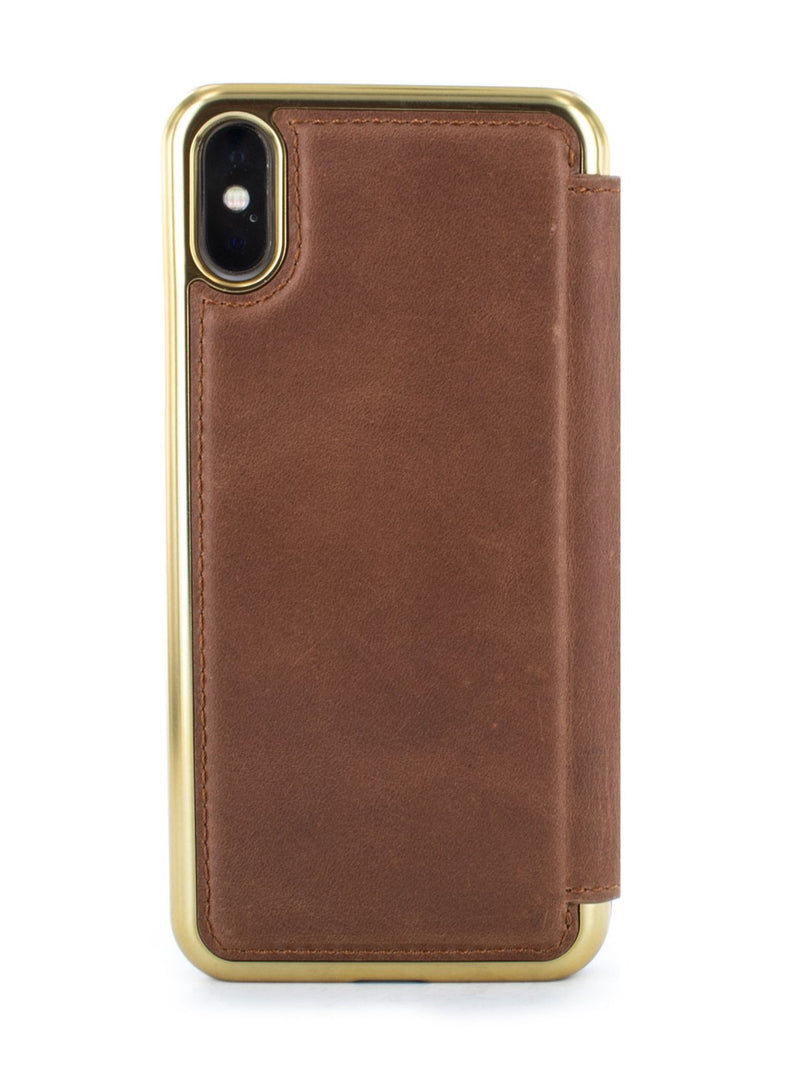 Back image of the Greenwich Apple iPhone XS / X phone case in Brown