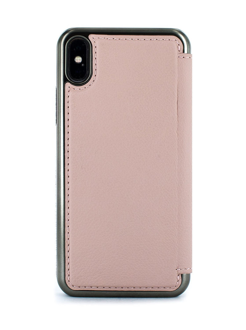 Back image of the Greenwich Apple iPhone XS Max phone case in Blossom Pink
