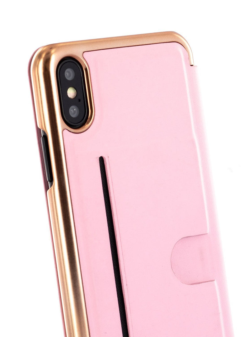 Detail image of the Ted Baker Apple iPhone XS / X phone case in Soft Rose Pink