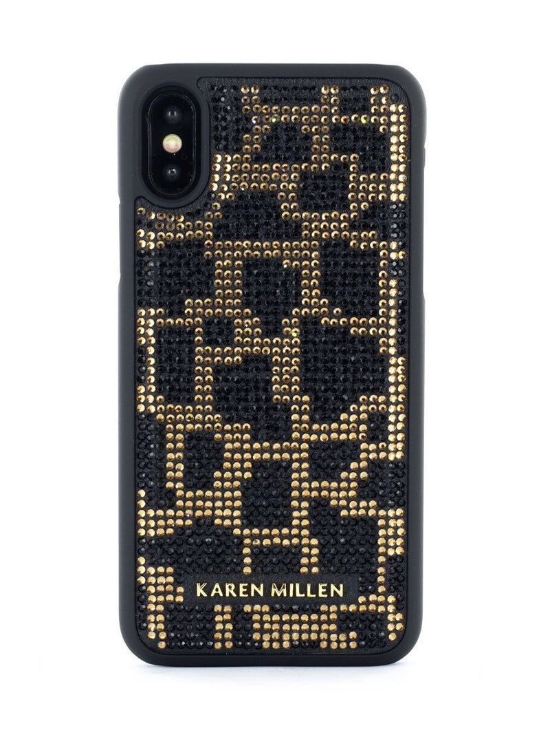 Hero image of the Karen Millen Apple iPhone XS / X phone case in Black