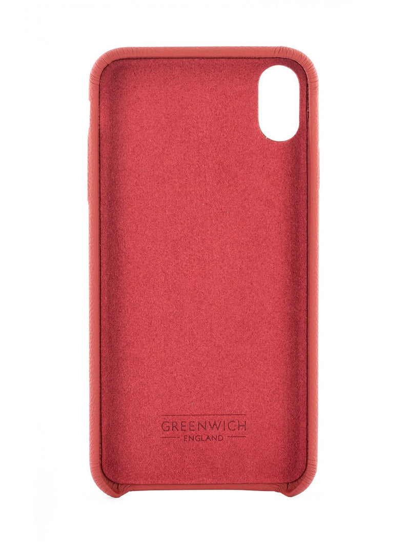 Inside image of the Greenwich Apple iPhone XS Max phone case in Red