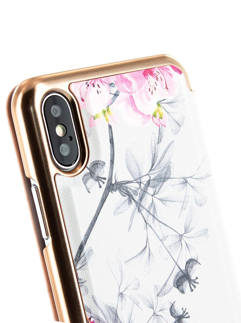 Detail image of the Ted Baker Apple iPhone XS Max phone case in Babylon Nickel