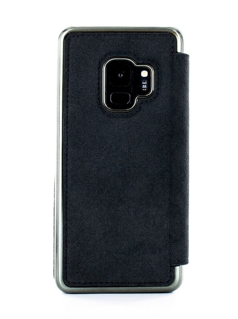 Back image of the Greenwich Samsung Galaxy S9 phone case in Alcantara