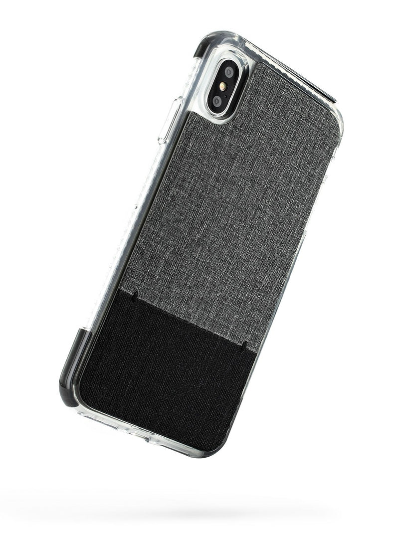 Back image of the Proporta Apple iPhone XS Max phone case in Grey