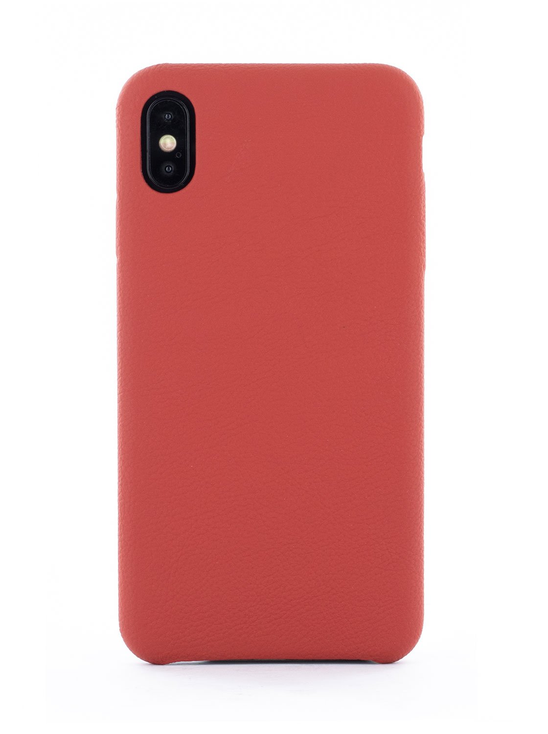 AEON Luxury Leather Wrapped Back Shell for iPhone XS Max - Red