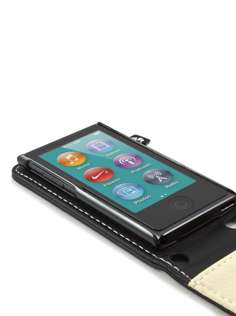 On Desk image of the Proporta Apple iPod Nano 7G phone case in Black