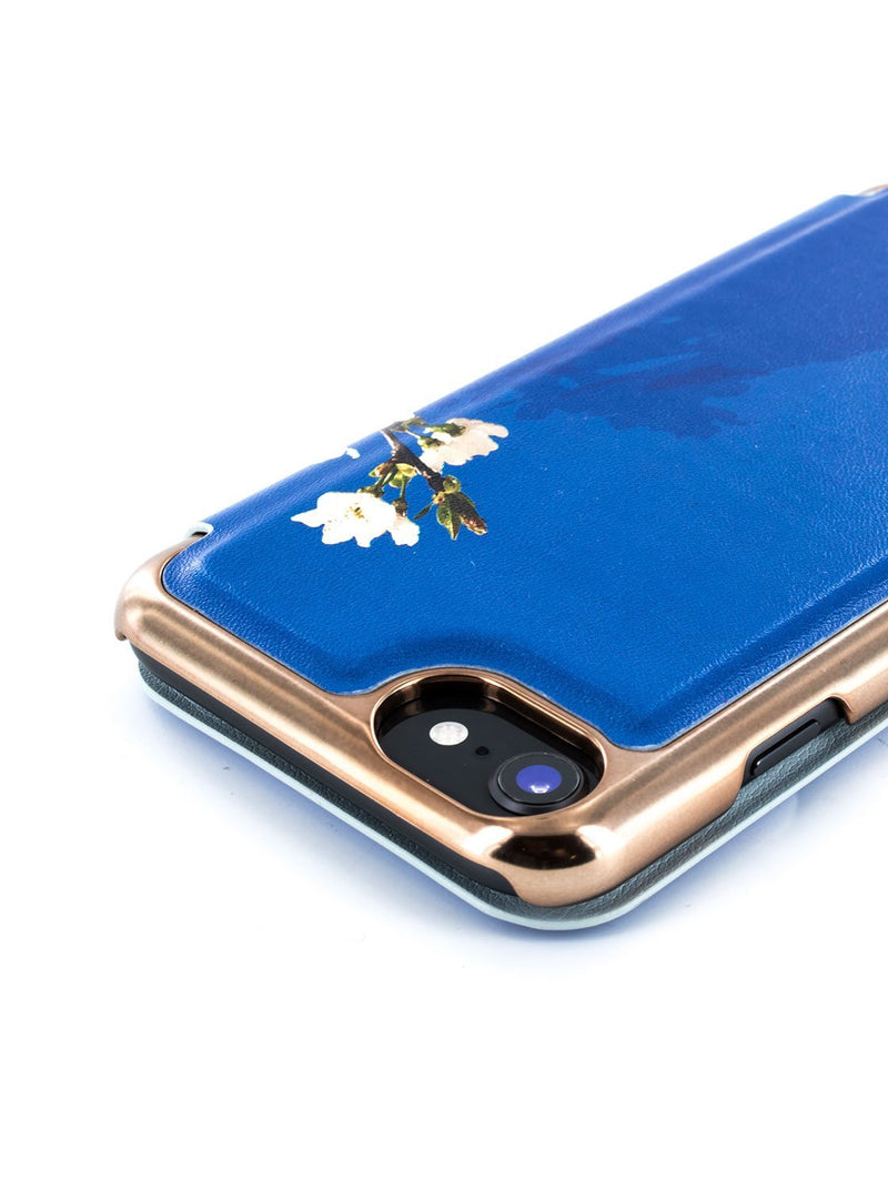 Detail image of the Ted Baker Apple iPhone 8 / 7 / 6S phone case in Blue