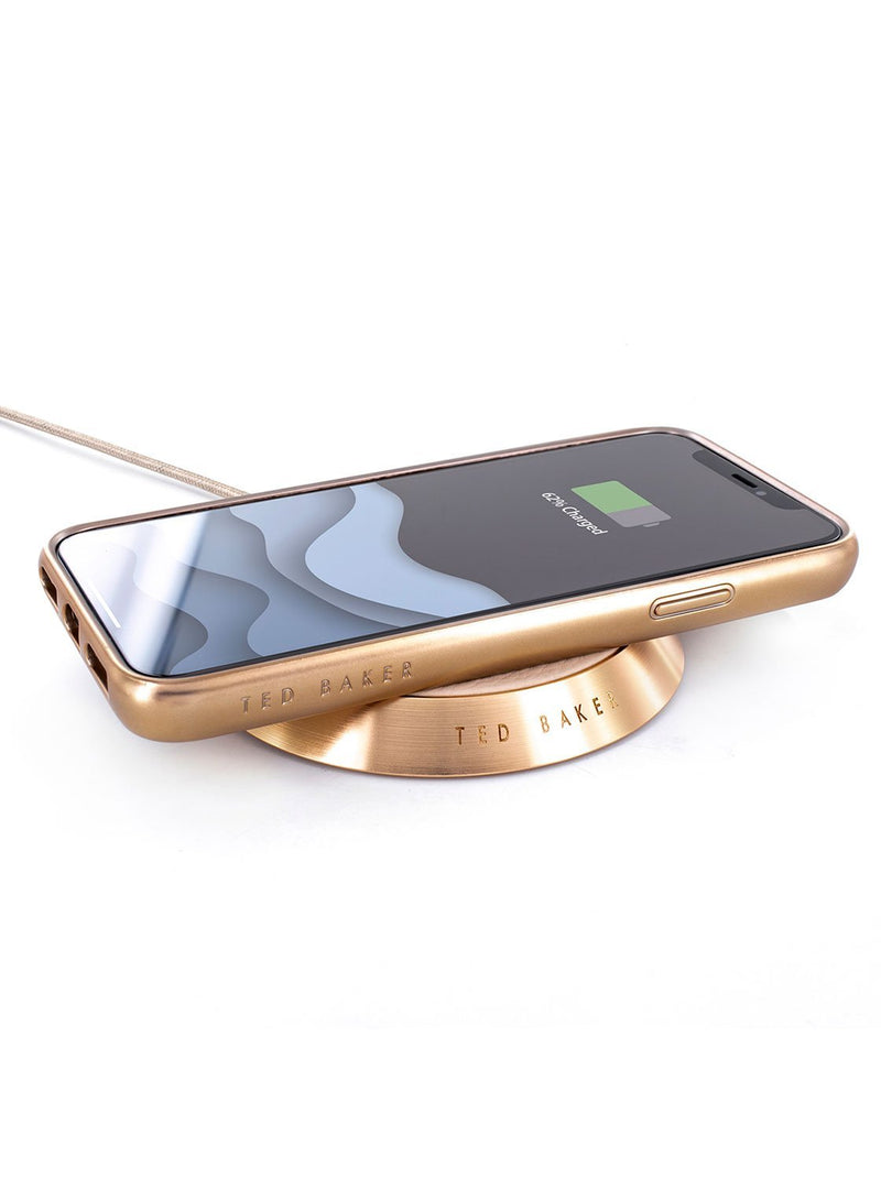 Charging device image of the Ted Baker Apple iPhone XS / X phone case in Taupe
