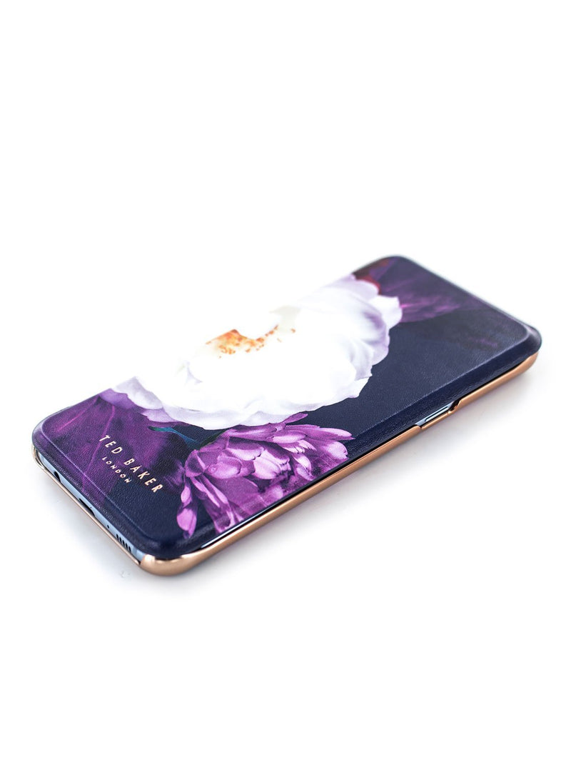 Face up image of the Ted Baker Samsung Galaxy S8+ phone case in Black