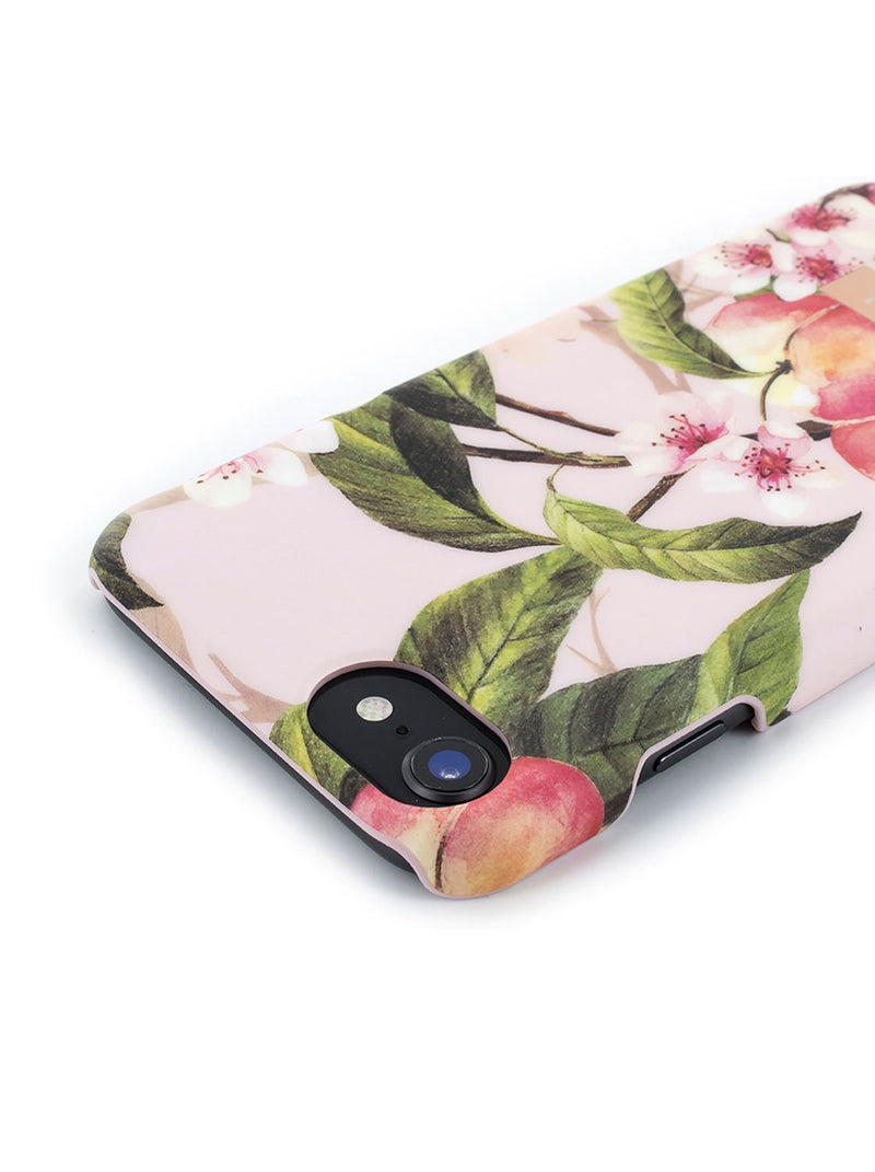 Face down image of the Ted Baker Apple iPhone 8 / 7 / 6S phone case in Peach Blossom