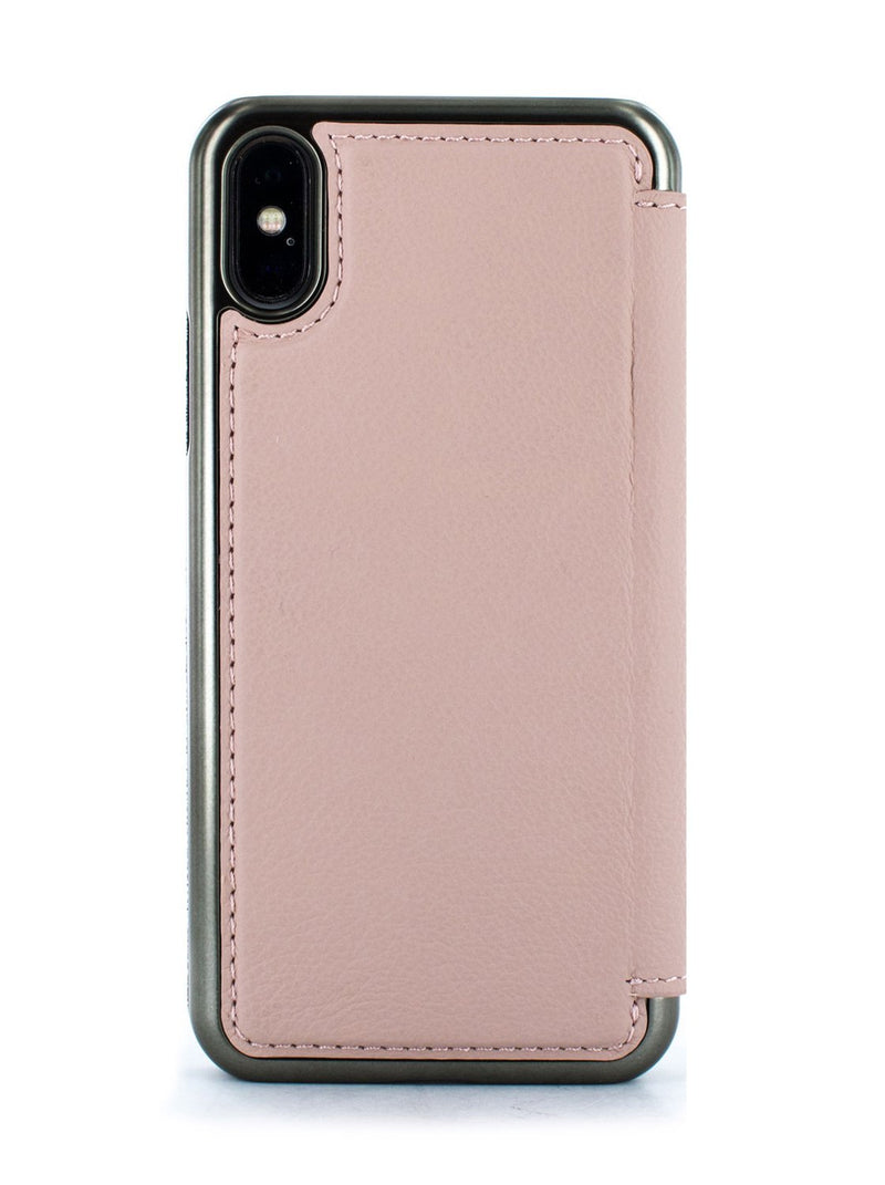 Back image of the Greenwich Apple iPhone XS / X phone case in Blossom Pink