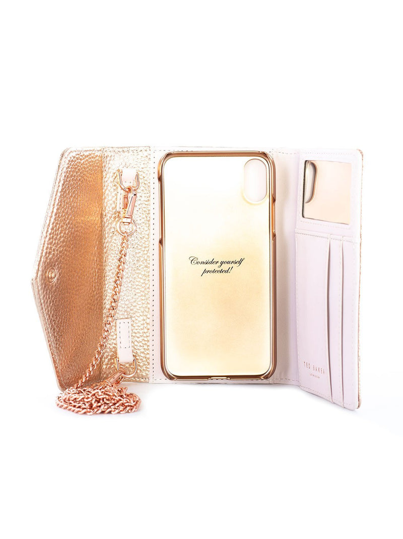 Inside image of the Ted Baker Apple iPhone XS Max phone case in Rose Gold