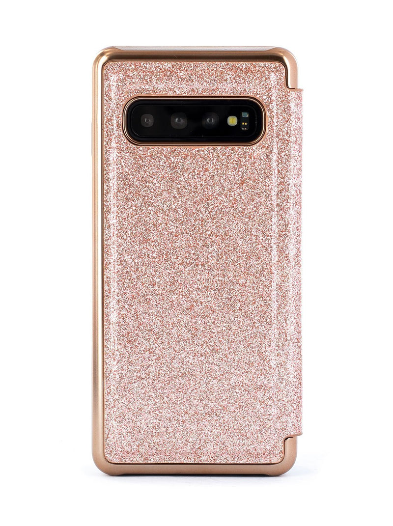 Back image of the Ted Baker Samsung Galaxy S10 phone case in Rose Gold