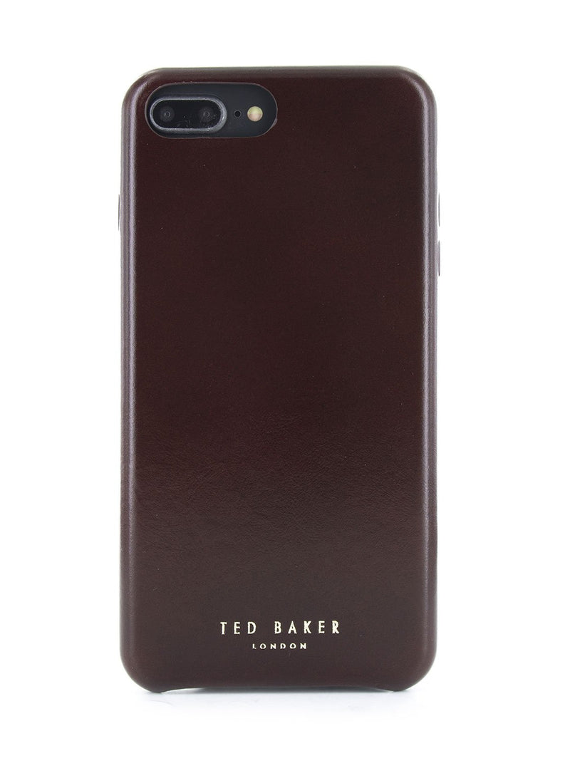 Hero image of the Ted Baker Apple iPhone 8 Plus / 7 Plus phone case in Dark Brown