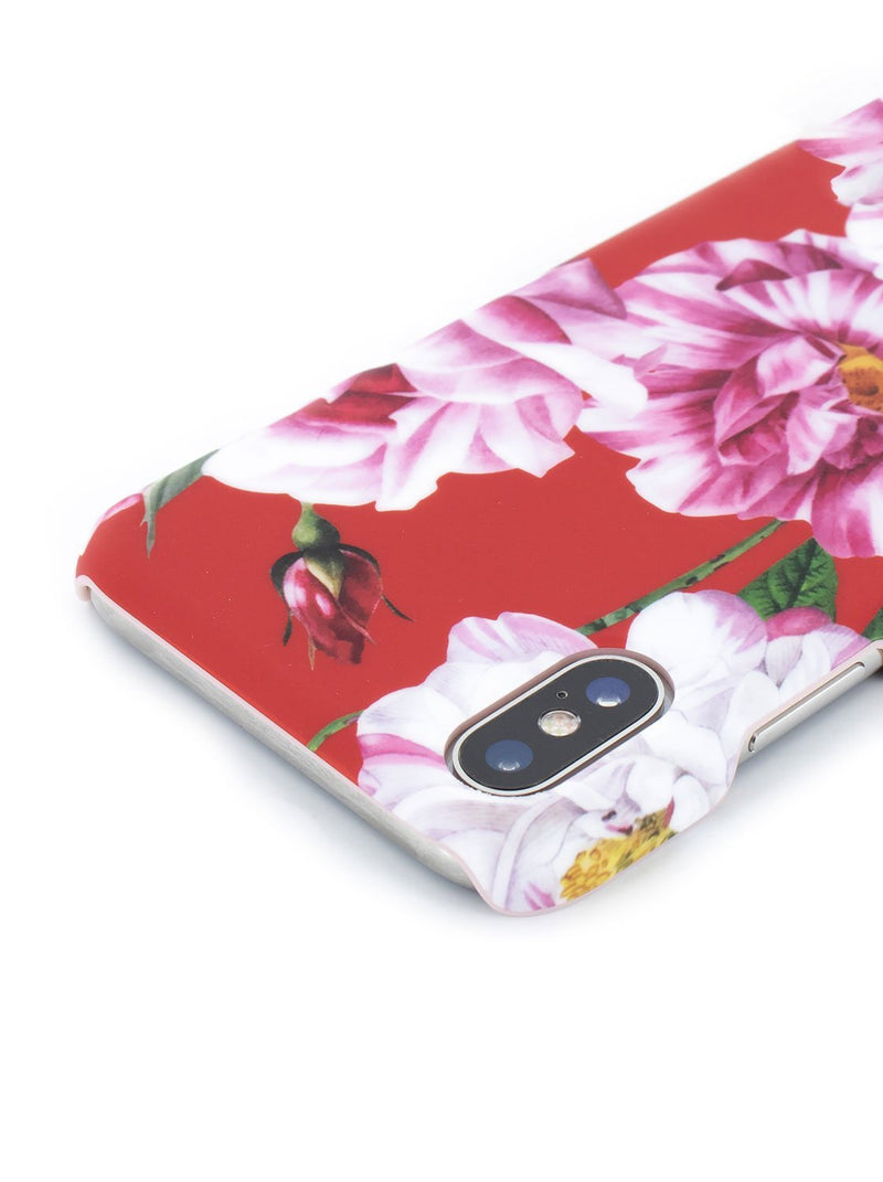Detail image of the Ted Baker Apple iPhone XS / X phone case in Iguazu Red