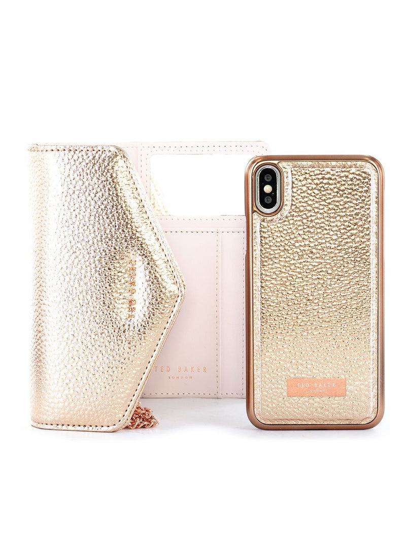 Bag with Case image of the Ted Baker Apple iPhone XS Max phone case in Rose Gold