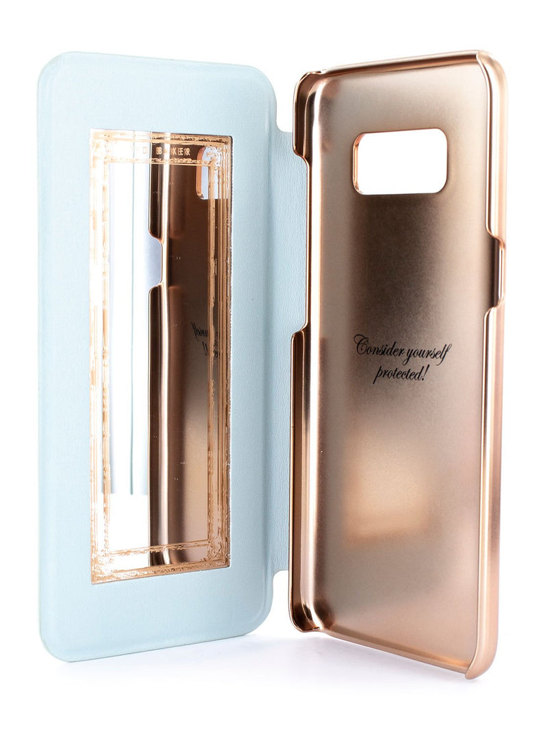 Inside mirror image of the Ted Baker Samsung Galaxy S8 phone case in Blue