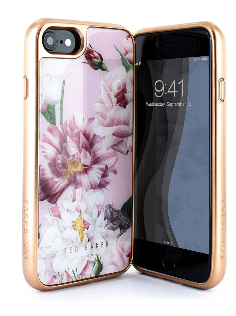 Front and back image of the Ted Baker Apple iPhone 8 / 7 / 6S phone case in Pink