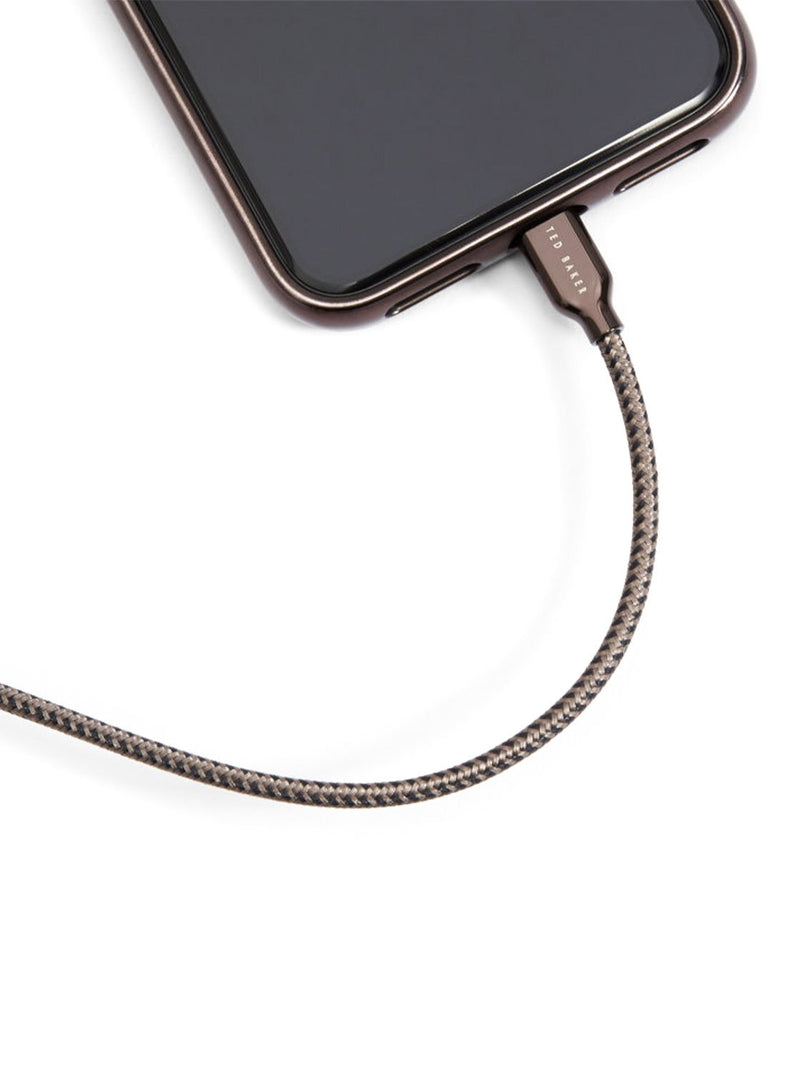 Connected to device image of the Ted Baker Universal cable in Grey